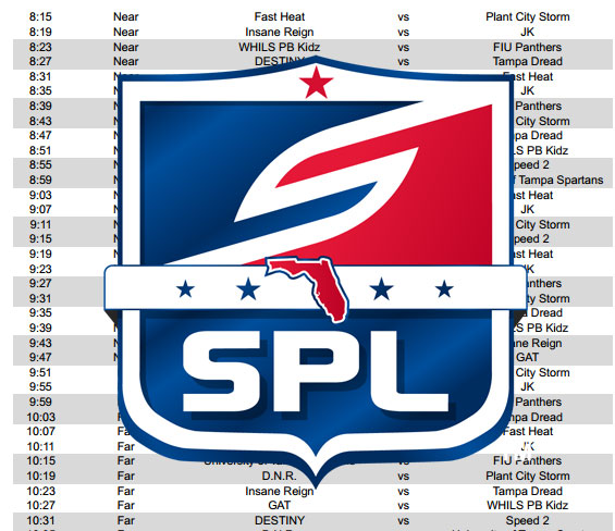 2014 SPL GCO Schedule Released